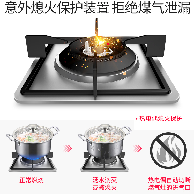 燃气灶熄火保护,煤气炉灶熄保装置