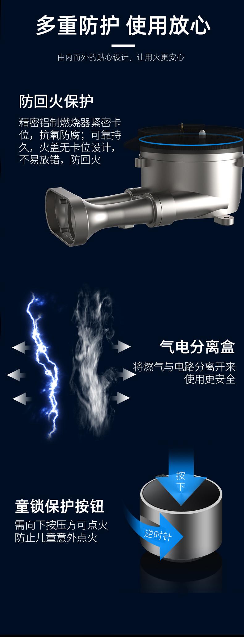 JZT-HT-A华太嵌入式天然气燃气灶QS002