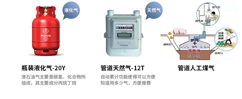 燃气炉灶常用三种气源